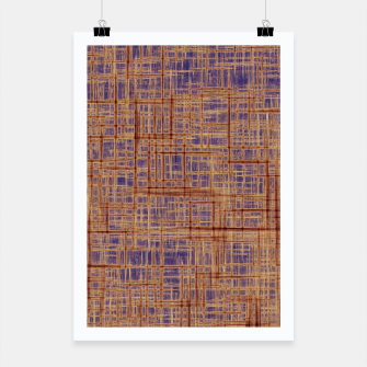 Thumbnail image of geometric square pattern drawing in purple and brown Poster, Live Heroes