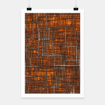 Thumbnail image of geometric square pattern drawing in orange brown Poster, Live Heroes