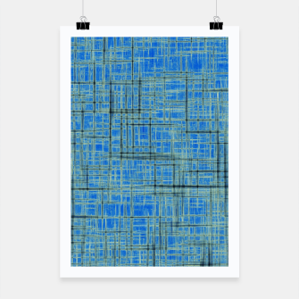 Thumbnail image of geometric square pattern drawing in blue Poster, Live Heroes