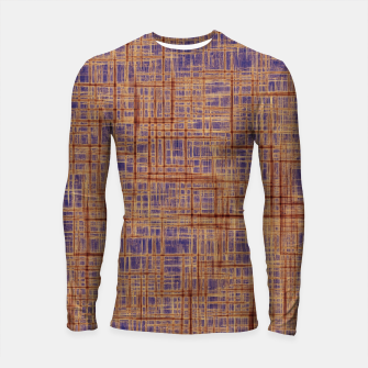 Thumbnail image of geometric square pattern drawing in purple and brown Longsleeve rashguard , Live Heroes