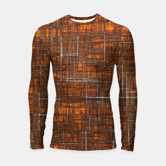 Thumbnail image of geometric square pattern drawing in orange brown Longsleeve rashguard , Live Heroes