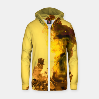 Thumbnail image of Astro Yellow Zip up hoodie, Live Heroes