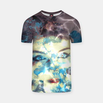 Thumbnail image of Digital art  pretty girl  T-shirt, Live Heroes