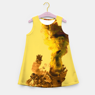Miniatur Astro Yellow Girl's summer dress, Live Heroes