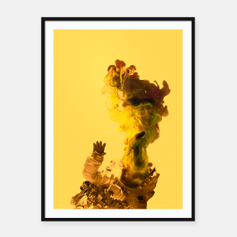 Thumbnail image of Astro Yellow Framed poster, Live Heroes