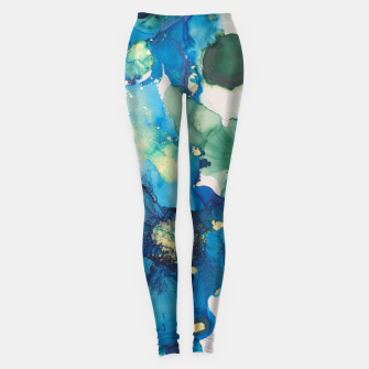Imagen en miniatura de flowers girly blue green gold   Leggings, Live Heroes