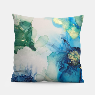 Imagen en miniatura de flowers girly blue green gold   Coussin, Live Heroes