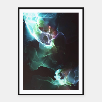 Thumbnail image of Light Flowers smoke by night black  modern art contemporary art  Affiche et cadre, Live Heroes