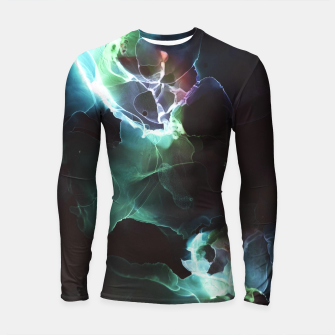 Thumbnail image of Light Flowers smoke by night black  modern art contemporary art  Longsleeve rashguard , Live Heroes