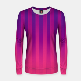 Thumbnail image of Gradient Stripes Pattern cpp Women sweater, Live Heroes