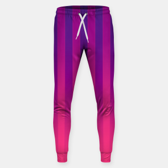 Thumbnail image of Gradient Stripes Pattern cpp Sweatpants, Live Heroes