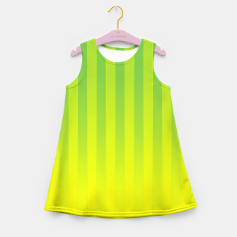 Thumbnail image of Gradient Stripes Pattern gy Girl's summer dress, Live Heroes