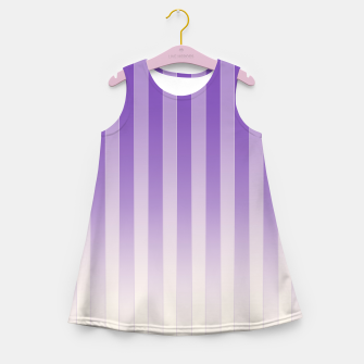 Thumbnail image of Gradient Stripes Pattern pl Girl's summer dress, Live Heroes
