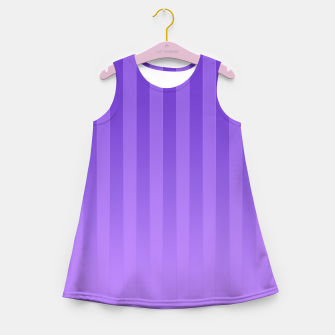 Gradient Stripes Pattern ip Girl's summer dress thumbnail image
