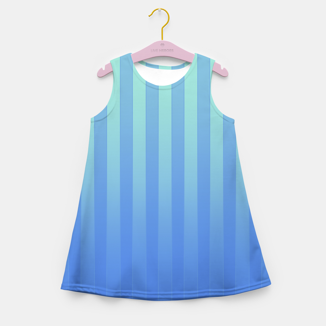 Image of Gradient Stripes Pattern tb Girl's summer dress - Live Heroes