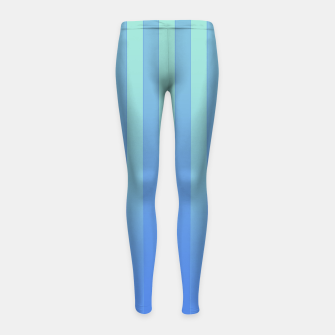 Gradient Stripes Pattern tb Girl's leggings thumbnail image