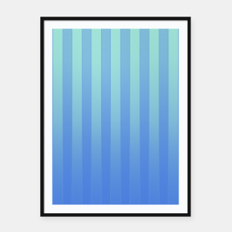 Gradient Stripes Pattern tb Framed poster thumbnail image
