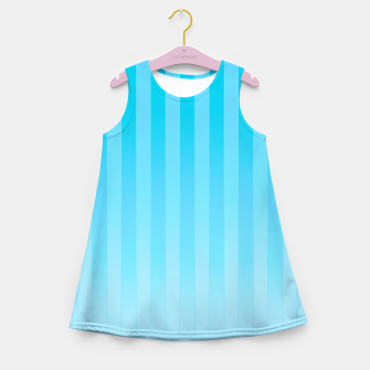 Thumbnail image of Gradient Stripes Pattern it Girl's summer dress, Live Heroes