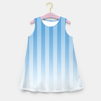 Thumbnail image of Gradient Stripes Pattern wb Girl's summer dress, Live Heroes