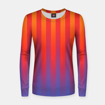 Thumbnail image of Gradient Stripes Pattern yrb Women sweater, Live Heroes