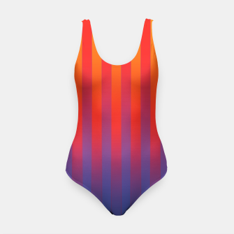 Thumbnail image of Gradient Stripes Pattern yrb Swimsuit, Live Heroes