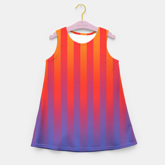 Thumbnail image of Gradient Stripes Pattern yrb Girl's summer dress, Live Heroes