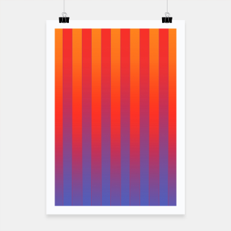 Thumbnail image of Gradient Stripes Pattern yrb Poster, Live Heroes