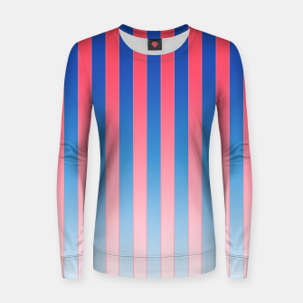 Thumbnail image of Gradient Stripes Pattern std Women sweater, Live Heroes