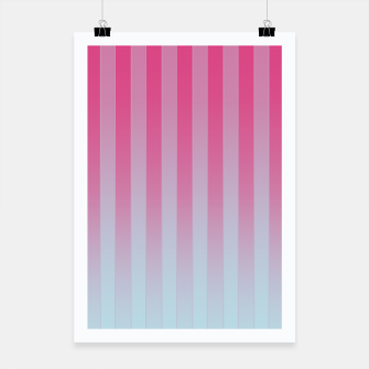 Thumbnail image of Gradient Stripes Pattern mt Poster, Live Heroes