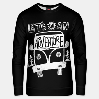 Miniaturka Let's Go an Adventure Unisex sweater, Live Heroes