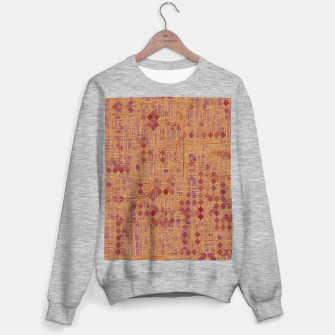 geometric square pixel pattern abstract in brown and pink Sweater regular thumbnail image