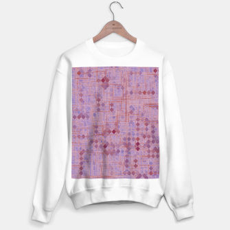 Miniaturka geometric square pixel pattern abstract in pink and purple Sweater regular, Live Heroes