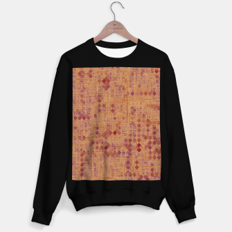 Thumbnail image of geometric square pixel pattern abstract in brown and pink Sweater regular, Live Heroes