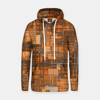 geometric square pattern abstract background in orange and brown Hoodie thumbnail image