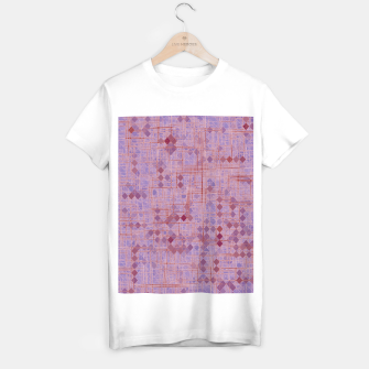 Miniaturka geometric square pixel pattern abstract in pink and purple T-shirt regular, Live Heroes