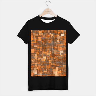 Thumbnail image of geometric square pattern abstract background in orange and brown T-shirt regular, Live Heroes
