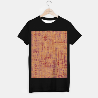 Miniaturka geometric square pixel pattern abstract in brown and pink T-shirt regular, Live Heroes