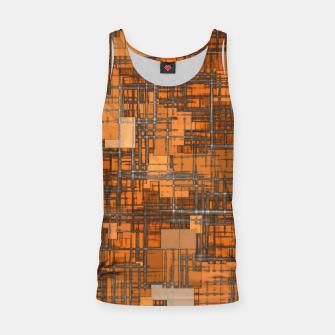 geometric square pattern abstract background in orange and brown Tank Top thumbnail image