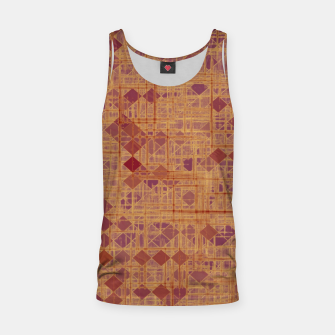 geometric square pixel pattern abstract in brown and pink Tank Top thumbnail image