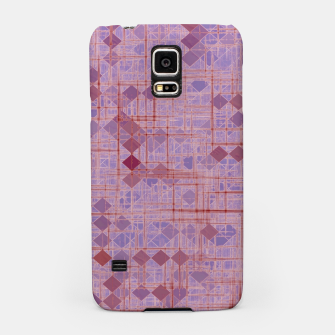 Miniatur geometric square pixel pattern abstract in pink and purple Samsung Case, Live Heroes