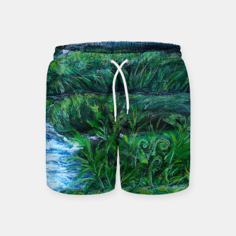 Thumbnail image of Moss and River Swim Shorts, Live Heroes