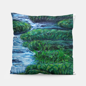 Thumbnail image of Moss and River Pillow, Live Heroes
