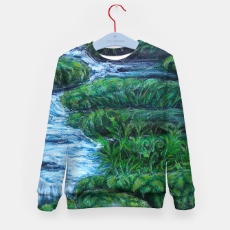 Thumbnail image of Moss and River Kid's sweater, Live Heroes