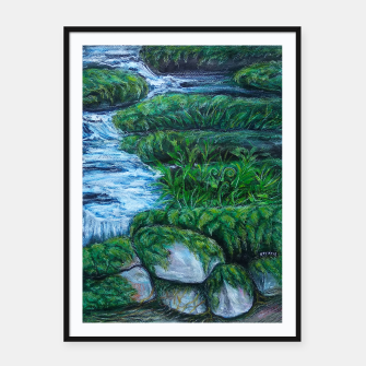 Thumbnail image of Moss and River Framed poster, Live Heroes