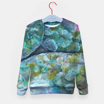 Thumbnail image of Moss and Stones  Kid's sweater, Live Heroes