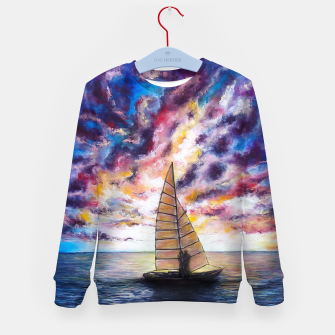 Imagen en miniatura de Marina Dreams  Sunset Kid's sweater, Live Heroes