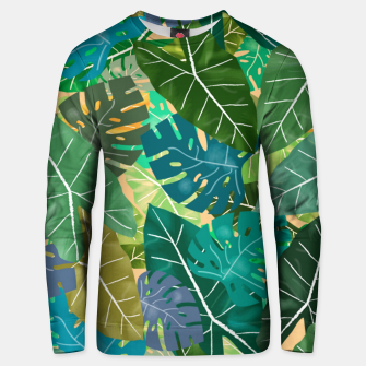 Thumbnail image of Elephant Ears and Monstera  Unisex sweater, Live Heroes
