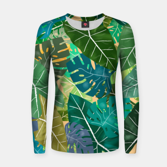 Thumbnail image of Elephant Ears and Monstera  Women sweater, Live Heroes