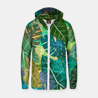 Thumbnail image of Elephant Ears and Monstera  Zip up hoodie, Live Heroes