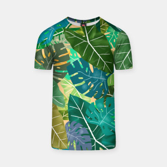 Thumbnail image of Elephant Ears and Monstera  T-shirt, Live Heroes
